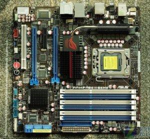 Rampage II GENE ROG mATX X58 LGA 1366 motherboard - $140 00